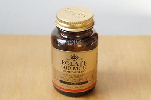 Solgar, Folate (As Metafolin), 400 mcg, 100 Tablets