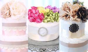 華やかで上品なサロンドールのおむつケーキ