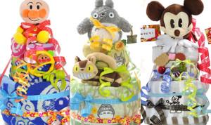 ミッキーやトトロなどのおむつケーキがいっぱい♪【おむつケーキ専門店 すまいる】